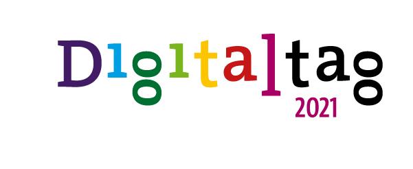 Schriftzug in Bund mit Digitaltag 2021